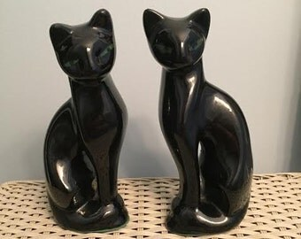 Set of 2 Artmark Siamese Cat Figurines Vintage