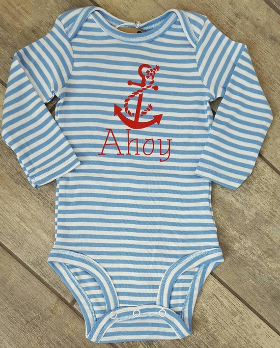 Ahoy - baby onesie - limited edition  - ONE OF A Kind onesie colour - baby accessories - size 3-6 months