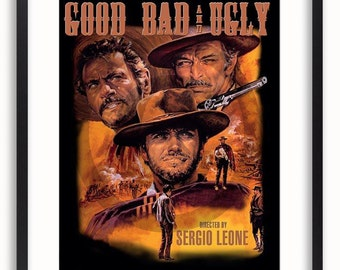 The Good The Bad And the Ugly Vintage Film Poster