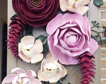 Set of 30 Large Foam Flowers Leaves - Gaint Foam Flowers -Flowers Wall Decor - Giant Flowers Wall - Décoration de mariage - Ensemble de fleu