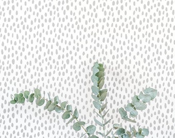 Grey Speckle Wallpaper / Traditional or Removable Wallpaper L044-1