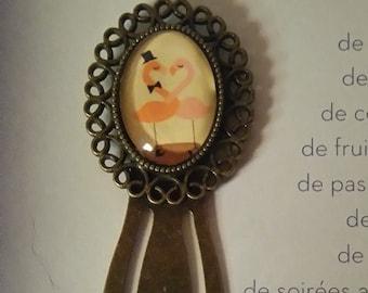 small bookmark Flemish couple rose
