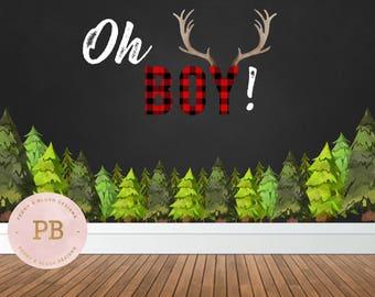 Digital Lumberjack Baby Shower, Birthday Party, Rustic, Woodland Baby Shower, Woodland Birthday, Boys Birthday, Lumberjack Decor