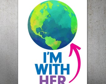 I'm With Her Science March PRINTABLE Protest Poster | Science March, March For Science, Climate Change, Trump Protest Sign
