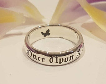 once upon a time ring fairy tale ring butterfly jewelry butterfly ring - Disney Wedding Rings