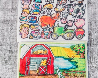 Farm 10 in - story picture pocket, felt boards, felt pieces, girls and boys, quite toy, church toy, car toy, flannel board