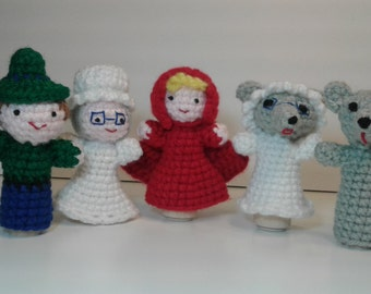 little red riding hood finger puppets finger puppets pdf email knit pattern 7815
