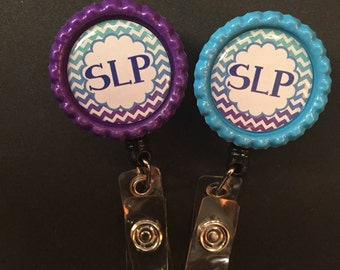 Personalized Retractable ID Badge Holder rn pa rt slp cna
