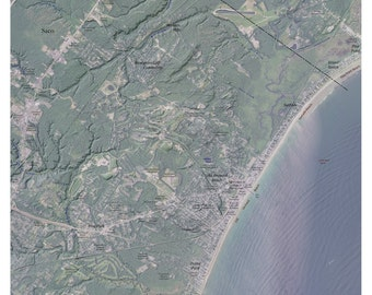 Old Orchard Beach, Maine  Relief Map