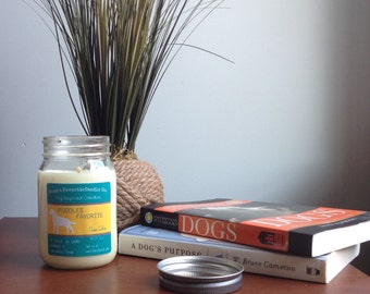 Clean Cotton Soy Candle, Scented Candle, Dog Lover Gift, Gift for Her, Gift for Him, Dog Candle, Poodles Favorite Soy Candle 16oz  Mason Jar