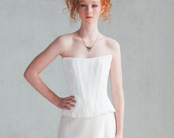 Organic silk corset