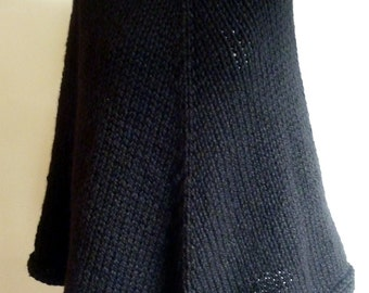 Goth Hooded Poncho - One piece, no seams!