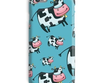 Cow iPhone Case, Blue iphone case, Farmer iphone 6 case, Cartoon iphone 6 case, Funny iphone 6s case, Cool iphone case