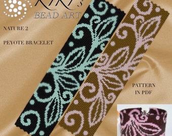 NEW Peyote Pattern for bracelet - Nature 2 peyote bracelet cuff pattern in PDF - instant download