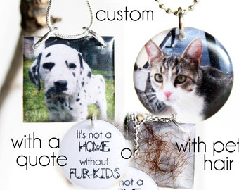 Pet Memorial Necklace, Hair Locket, Pet Necklace, Pet Memorial Locket, Pet Dad, Pet Mom, Custom Pet Portrait, Pet Urn Necklace, Custom Pet
