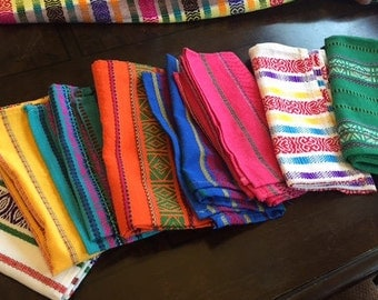 3 Handmade Guatemalan Cloth Towels. Authentic Hand-made, hand-woven towels from Antigua Guatemala, Guatemala. FREE SHIPPING to the USA.