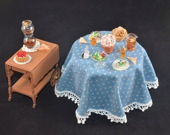 """Miniature Luncheon Table, 1""""=1' Scale"""