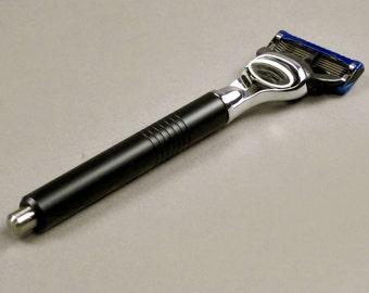 Anodized Aluminum Gillette Fusion Razor (chrome), Gillette Fusion, Wet Shaving Razor, Handcrafted Razor, Wet Shaving Supplies, shaving gift