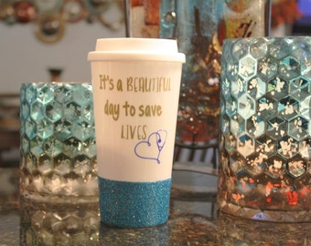 grey's anatomy, nurse gift, tumbler, glitter tumbler, cute tumblers, travel tumbler, cute gift, personalize tumbler, mugs with sayings, mugs