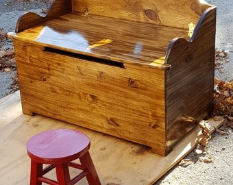 Handmade Wooden Bench Toy Chests