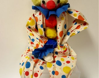 REDUCED Unique Vintage Music Box Clown Doll, plays 'When You Wish Upon a Star'