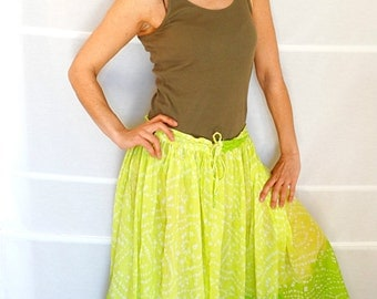 Bohemian skirt maxi Indian cotton skirt lime green full circle skirt maxi boho skirt womens summer skirt cotton Vintage 90s Size S-XL