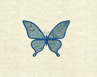 Machine embroidery applique butterfly