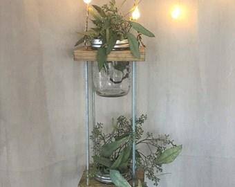 Mason Jar Herb Garden 2 Tiers