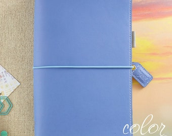 Color Crush Travelers Notebook, Periwinkle Traveler's Notebook with Travelers Insert, Webster's Pages