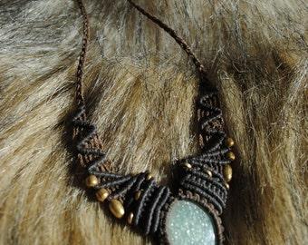Macrame necklace (sku N2)