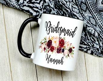 Custom Bridesmaid Coffee Mug - Bridesmaid Gift - Custom Wedding Favor - Bridal Party