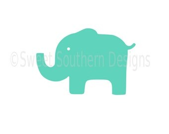 Baby elephant SVG instant download design for cricut or silhouette