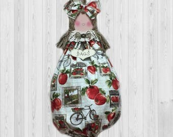 Apple wall decor, apple decor, kitchen wall decor, apple kitchen decor, wall decor, kitchen storage, grocery bag holder, country kitchen