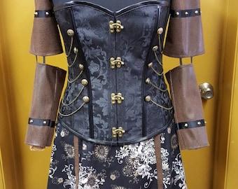 Steampunk Shoulder Shrug and Floral Skirt