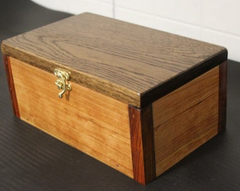 Oak and cherry keep sake box