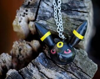 Pokémon Umbreon in paste Fimo pendant