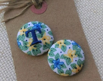 Needle Minder -Blue & Yellow Floral - Monogrammable-2 Piece Reversible