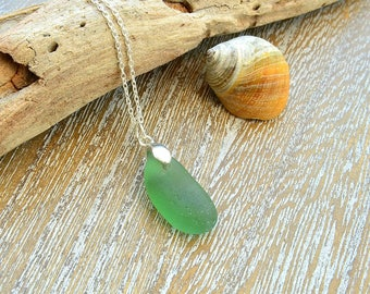 Beach Glass Necklace, Beach Jewellery, Sea Glass Jewellery, Retirement Gifts For Women, Gift For Her, Beach Lovers Gift, Jewellery Gift