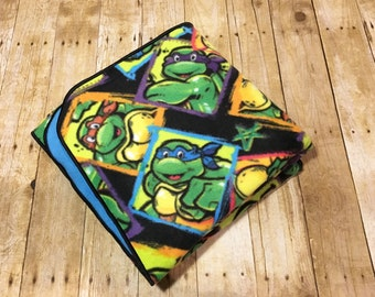 Ninja Turtles Blanket - 44 in x 58 in/Ninja Turtles Throw/TMNT Blanket/TMNT Throw/Leonardo Blanket