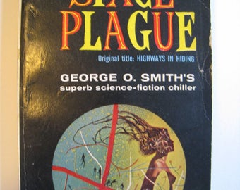 Space Plague by George O Smith. Vintage science fiction novel 1956. scifi paperback book.