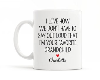 Personalized Grandparents Gift From Granddaughter Gift for Grandma Gift Grandparents Christmas Gift Grandmother Gift Grandma Birthday Gift