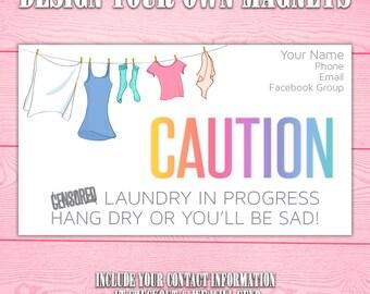 Laundry Magnet | Clothesline | Dryer | Customize