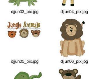 Jungle-Animals-Cross-Stitch ( 10 Machine Embroidery Designs from ATW ) XYZ17D