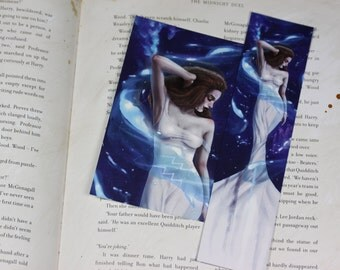 Zodiac Sign Aquarius Bookmark&Postcard