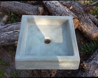 concrete square sink concrete sink concrete sink vanity bathroom sink