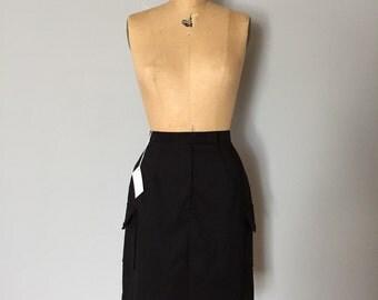 90s two pocket mini skirt | black stretch mini skirt