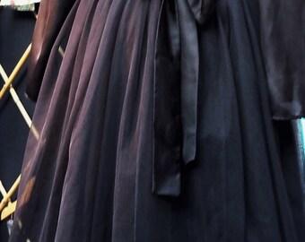 Woman's Black Tulle Skirt