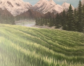 Alaska Painting Print, Artwork Print, Alaska Artwork print