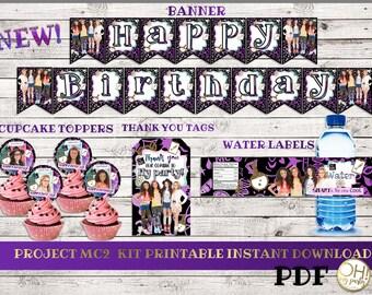 Project MC2, Project MC2 Birthday, Project Mc2 party, Project Mc2 birthday party, Project mc2 printable, project mc2 instant download,