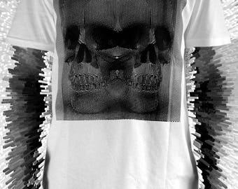 Duality skulls Screenprint Organic T shirt